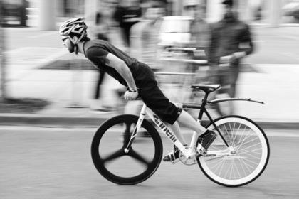 Bicicleta fixie sin frenos