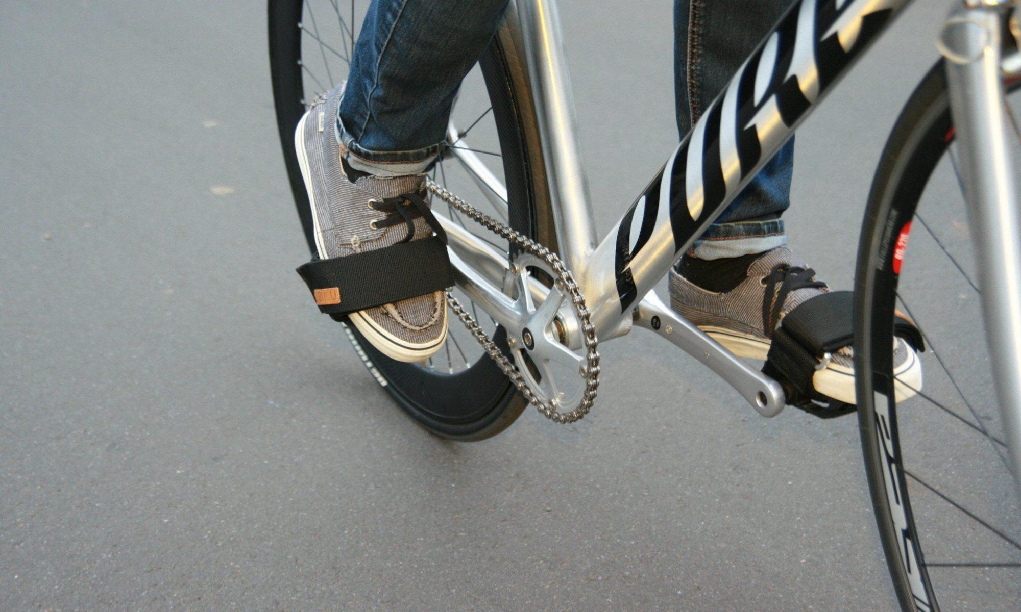 Bicicleta fixie footstraps